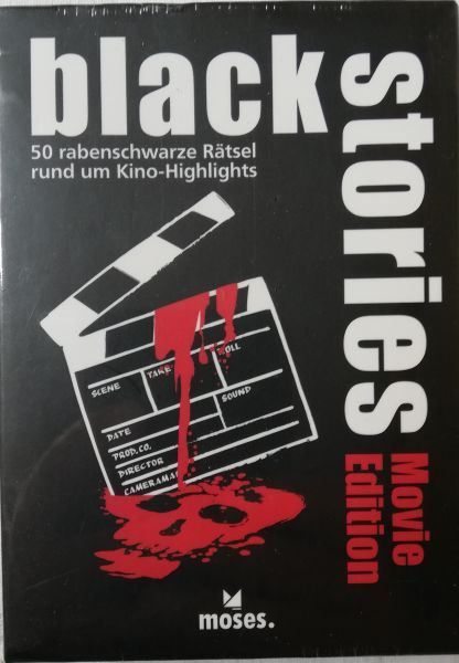 Moses. black stories Movie Edition, 50 rabenschwarze Rätsel, Das Krimi Kartenspiel
